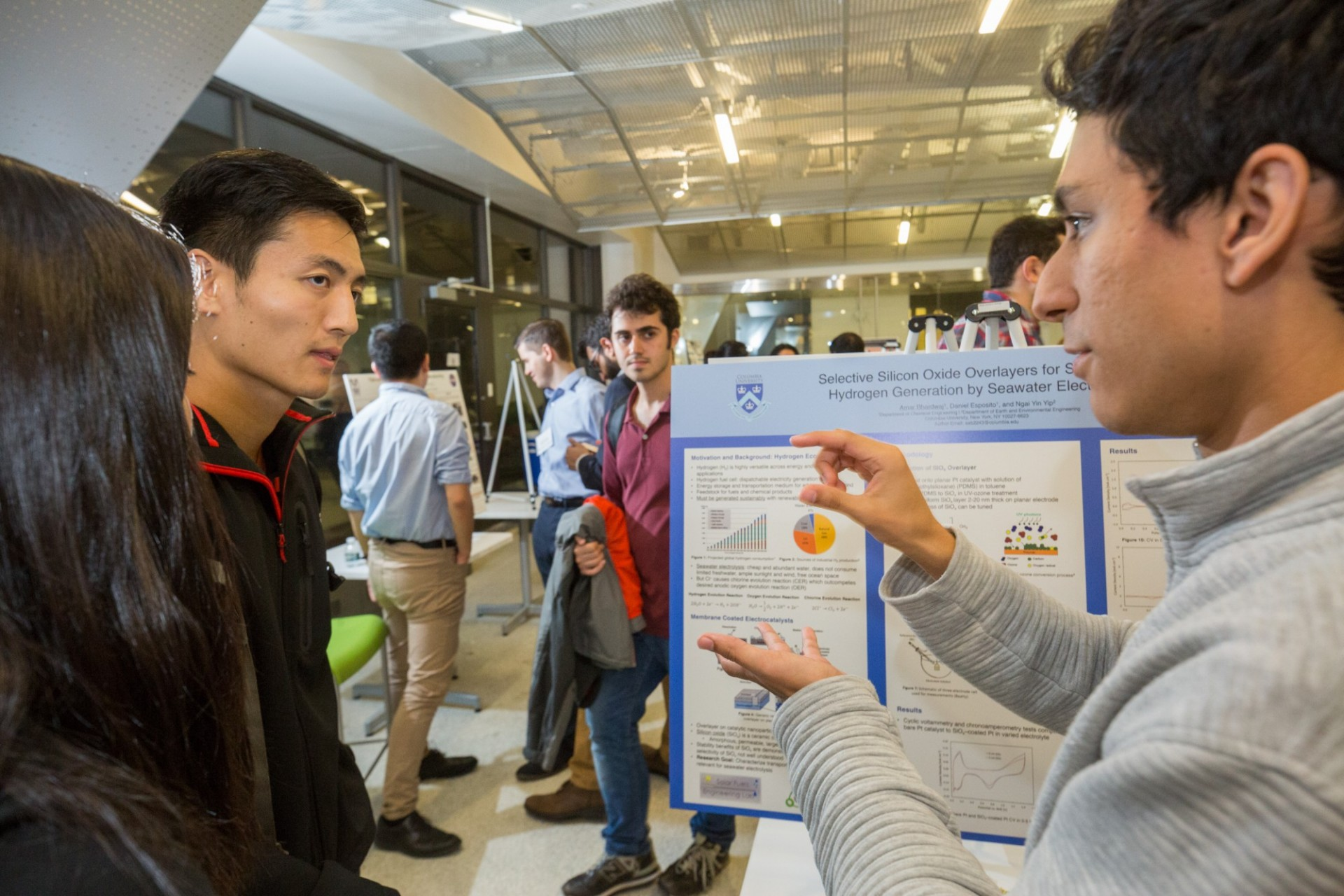 Bhardwaj presenting his research during the Undergraduate Research Symposium (10/3/19)